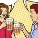 Couple Drinking Beer - GraphicRiver Item for Sale