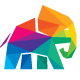 Elephant Colorful Polygon Logo