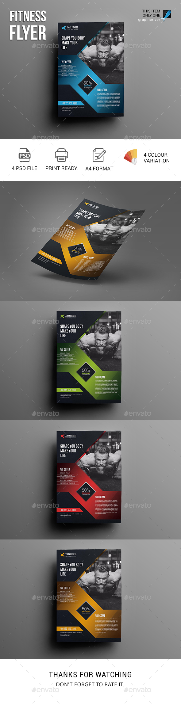 GraphicRiver Fitness Flyer 20687971