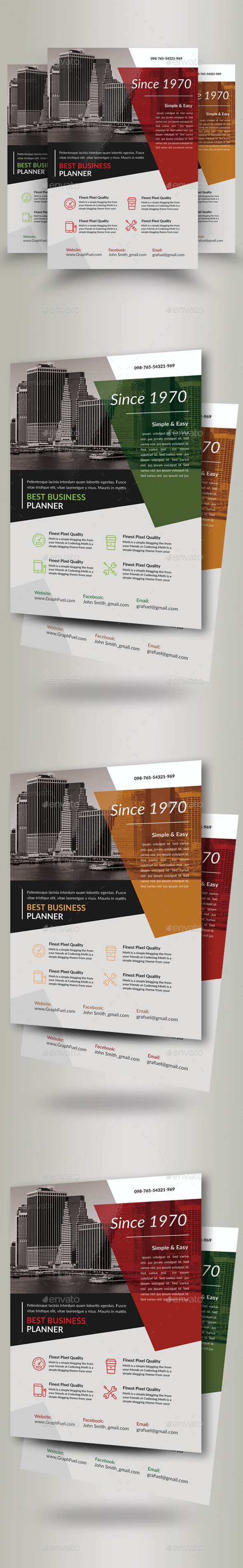 Corporate Business Flyers Template - Corporate Flyers