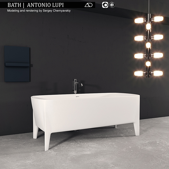 Bath Antonio Lupi - 3DOcean Item for Sale