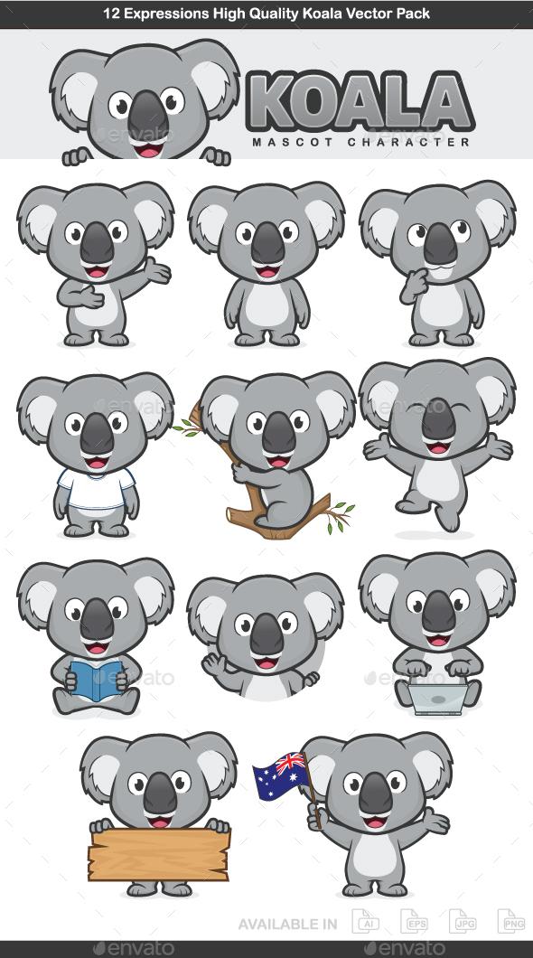 GraphicRiver Koala Mascot Character 20688119