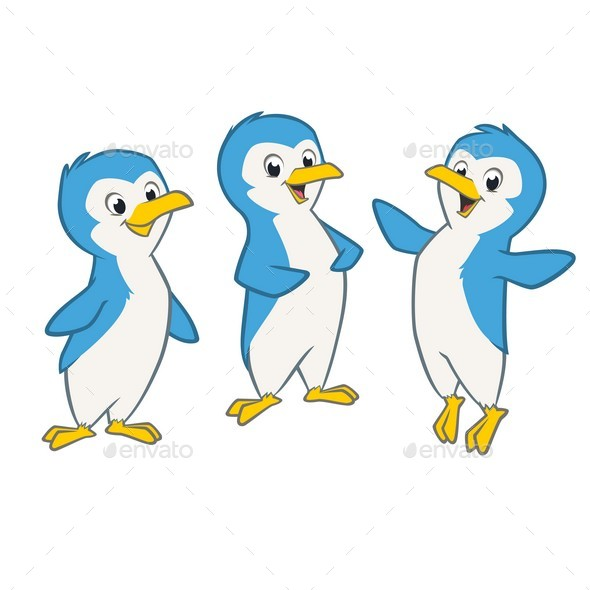 Cartoon Penguins - Animals Characters