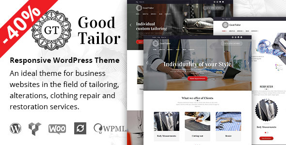 Good Tailor - Fashion & Tailoring Services WordPress Theme