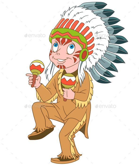 Native American Indian Chief - People Characters