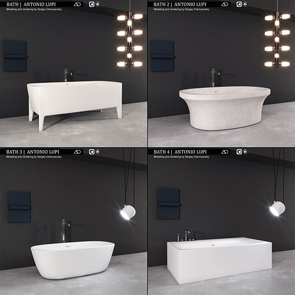 Bath collection 1 Antonio Lupi - 3DOcean Item for Sale