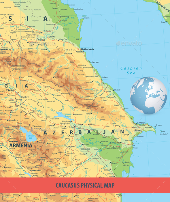 GraphicRiver Caucasus Physical Map 20688281