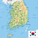 South Korea Physical Map