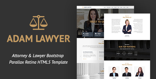 Download Adam Lawyer - Attorney & Lawyer Bootstrap Parallax Retina HTML5 Template