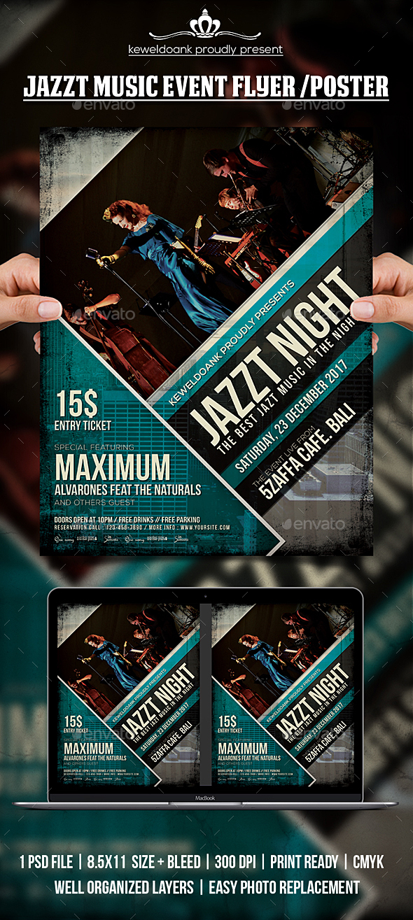 GraphicRiver Jazz Music Concert Flyer Poster 20688464
