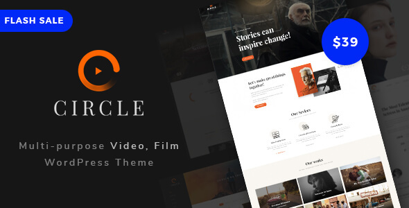 ThemeForest Circle Multipurpose Film Video WordPress theme 20454326