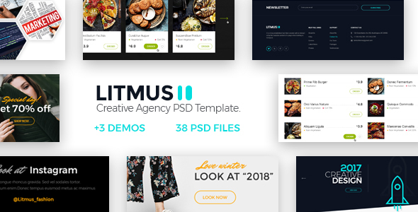 Litmus - Clean & Creative Multipurpose PSD Template - Creative PSD Templates