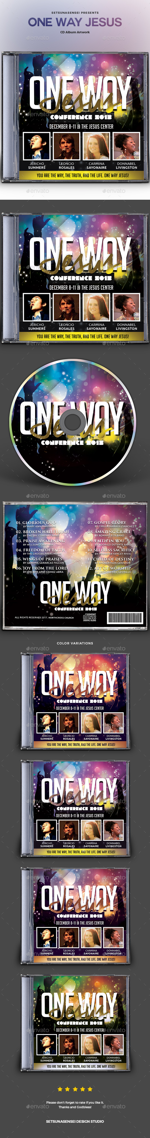 One Way Jesus CD Album Artwork - CD & DVD Artwork Print Templates