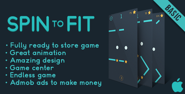 Spin to fit (Basic) - Fun Arcade Game IOS Template + easy to reskine + AdMob - CodeCanyon Item for Sale