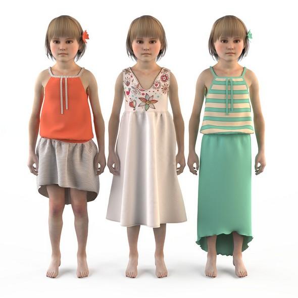 Group of children, child, boy, girl, playroom, children's room 2 - 3DOcean Item for Sale