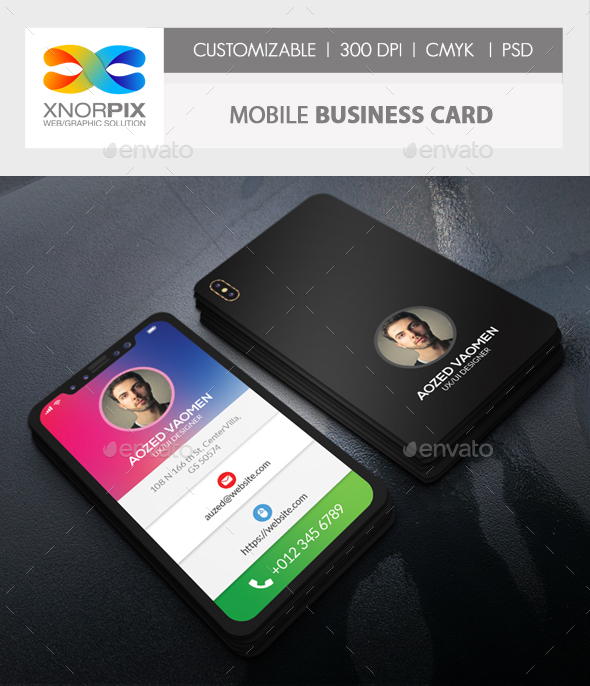 Mobile Business Card - Corporate Business Cards