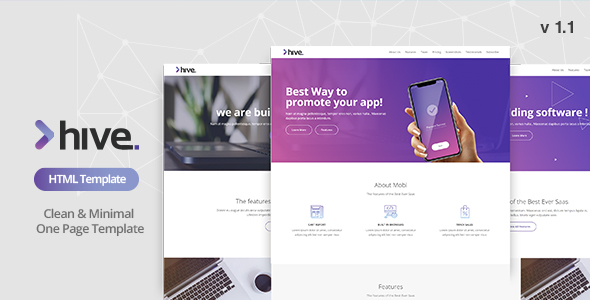 Image of Hive - Multipurpose Single Page Template