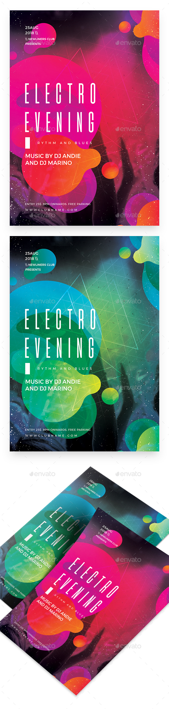 Electro Evening Party Flyer - Clubs & Parties Events
