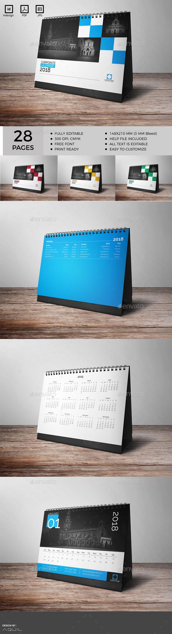 GraphicRiver Desk Calendar 20688919