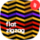 Flat Zigzag Pattern Backgrounds