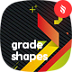 Abstract Flat and Grade Shapes Backgrounds - GraphicRiver Item for Sale