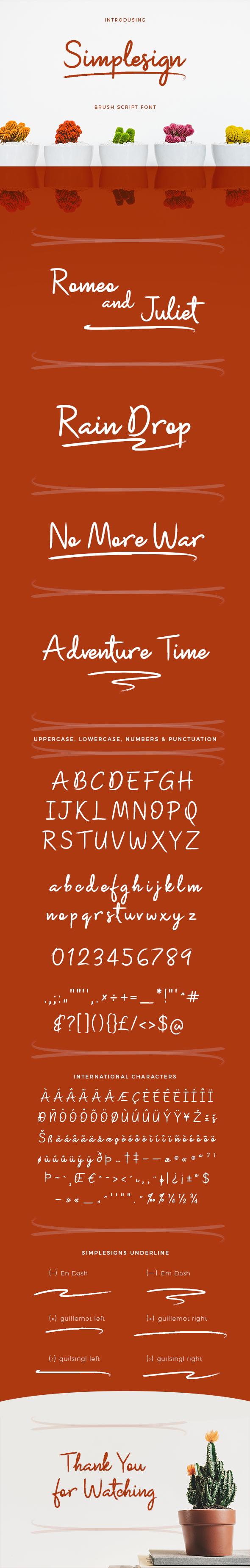Simplesign Brush Script Font - Script Fonts
