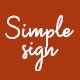 Simplesign Brush Script Font - GraphicRiver Item for Sale