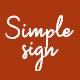 Simplesign Brush Script Font