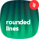 Flat Layered Rounded Lines Backgrounds