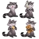 Funny Raccoon - 4 Images of Character