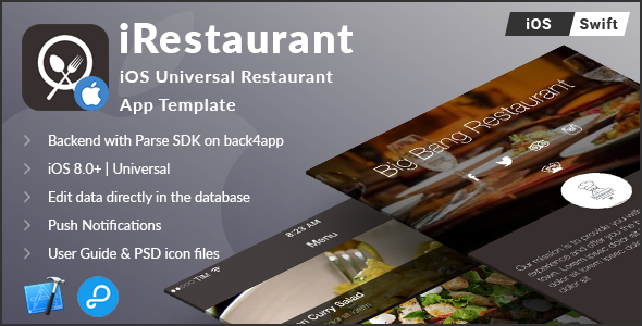 iRestaurant   iOS Universal Restaurant App Template (Swift)
