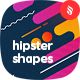 Hipster Shapes / Irregular Rounded Lines Backgrounds - GraphicRiver Item for Sale