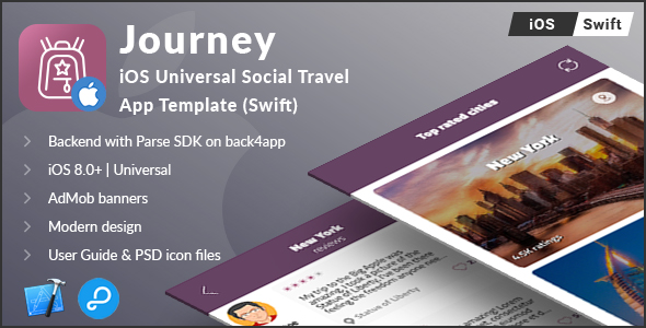 Journey   iOS Universal Social Travel App Template (Swift) - CodeCanyon Item for Sale