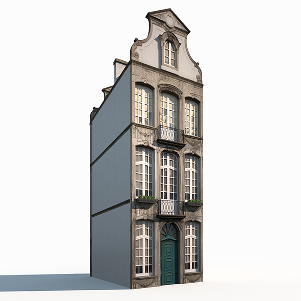 Buildings Facade 181 Low Poly - 3DOcean Item for Sale