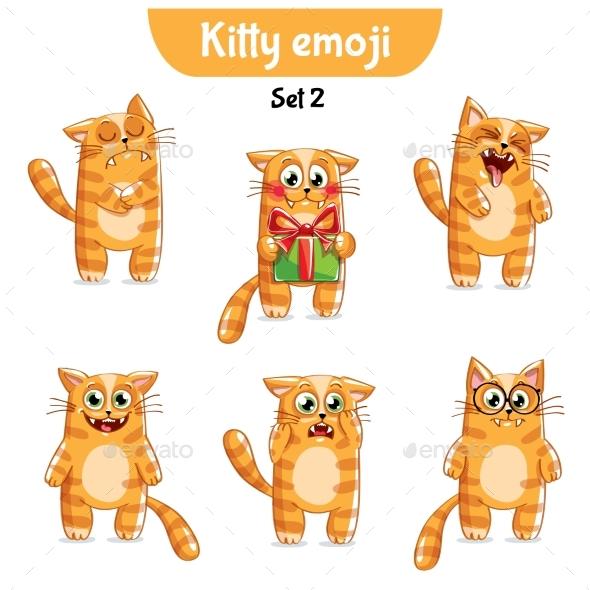 Vector Set of Cute Cat Characters. Set 2 - Miscellaneous Vectors