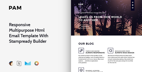 Pam – Responsive Multipurpose Email Template + Stampready Builder - Email Templates Marketing