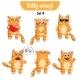 Vector Set of Cute Cat Characters. Set 4