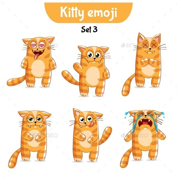 Vector Set of Cute Cat Characters. Set 3 - Miscellaneous Vectors