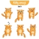 Vector Set of Cute Cat Characters. Set 5 - GraphicRiver Item for Sale