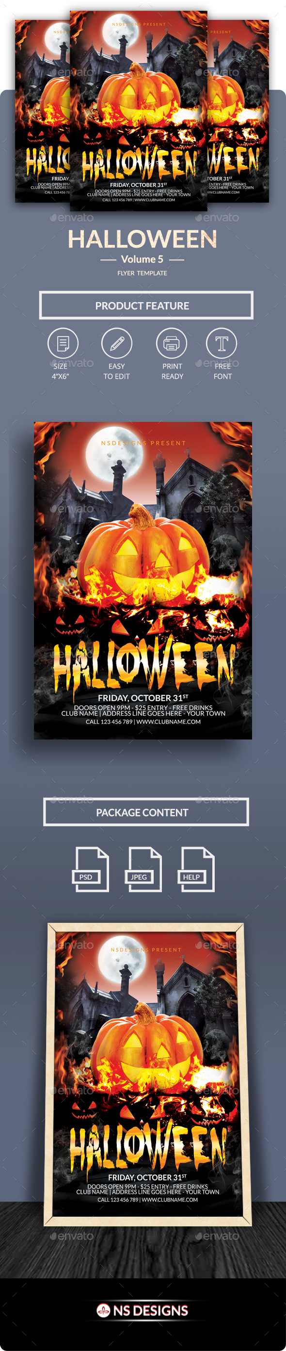 Halloween Flyer Vol.5 - Clubs & Parties Events