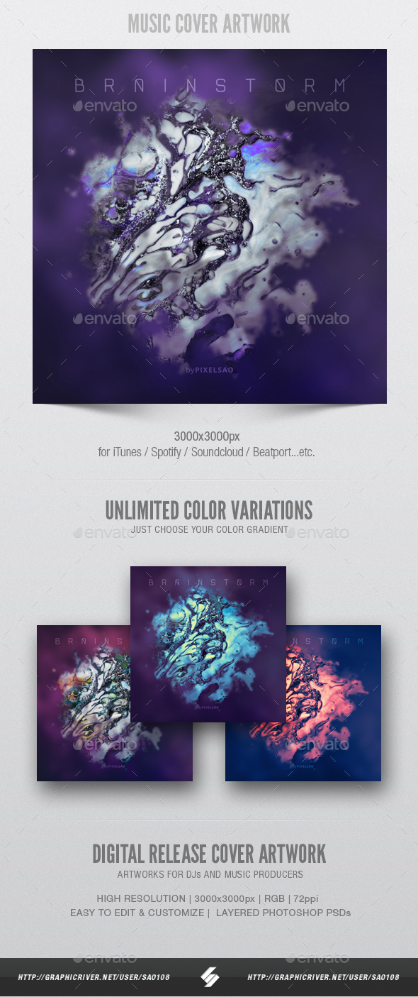 Brainstorm - Music Cover Artwork Template - Miscellaneous Social Media
