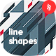 Abstract Flat Line Shapes Backgrounds - GraphicRiver Item for Sale