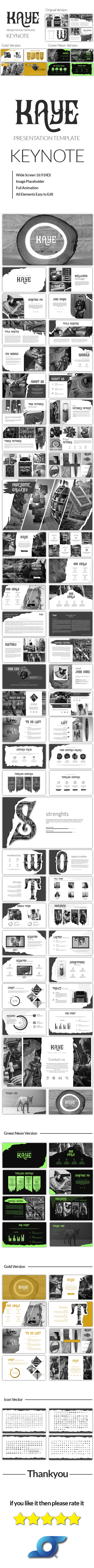 Kaye Keynote Template - Abstract Keynote Templates