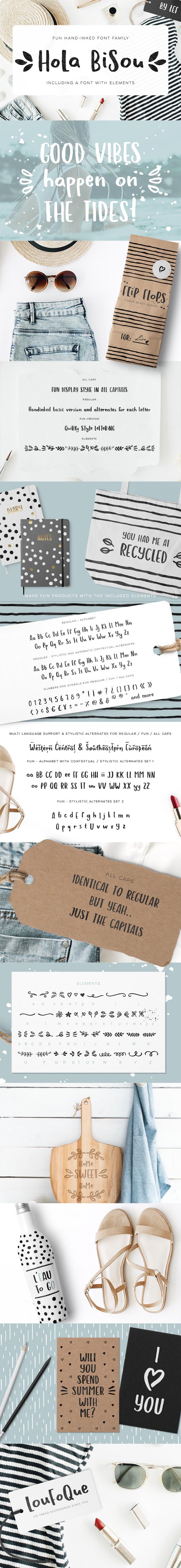 Hola Bisou - Sans-Serif Fonts