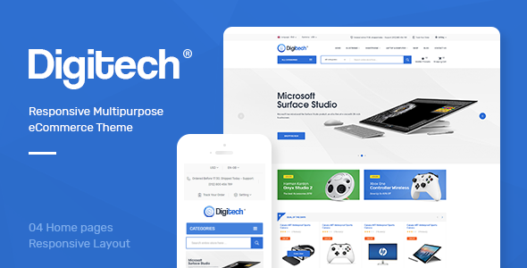 Image of Digitech - Responsive Opencart 3.x Theme
