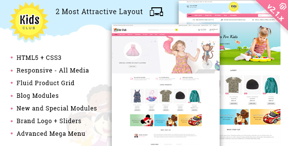 Download Free Kids Club - Responsive Magento 2 Theme
