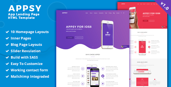APPSY - App Landing Page HTML Template