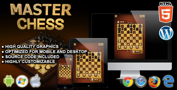 Master Chess - HTML5 Board Game - CodeCanyon Item for Sale
