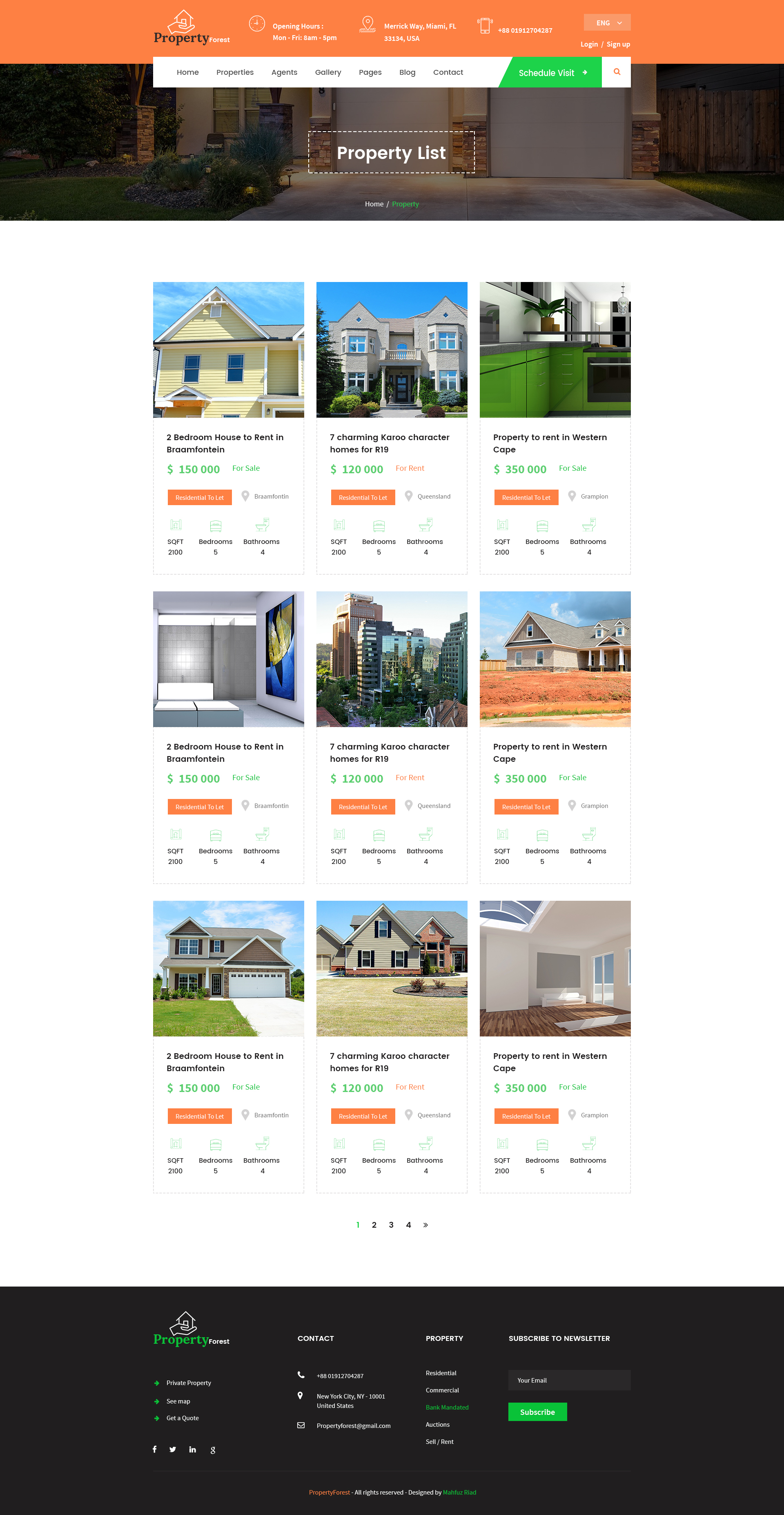 Real Estate And Property Listing Template By Templatemr ThemeForest - House listing template