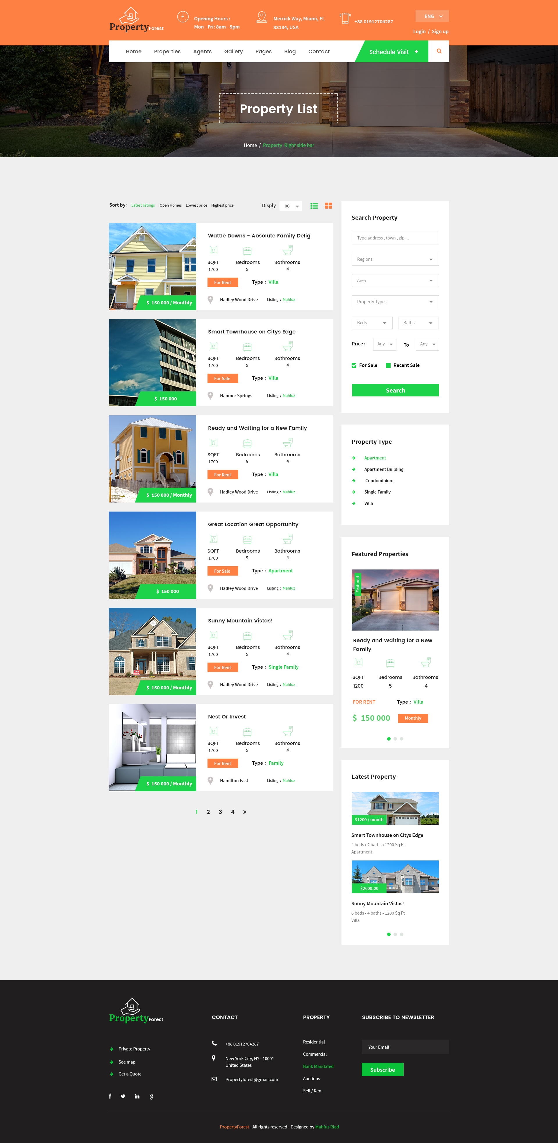 house listing template